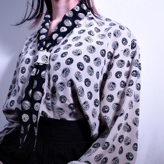 80's Sailor Collar blouse