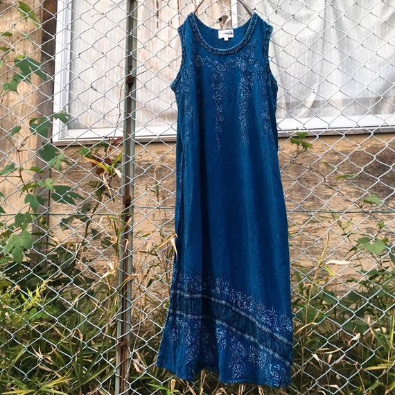 Ethnic Indigo One-Piece