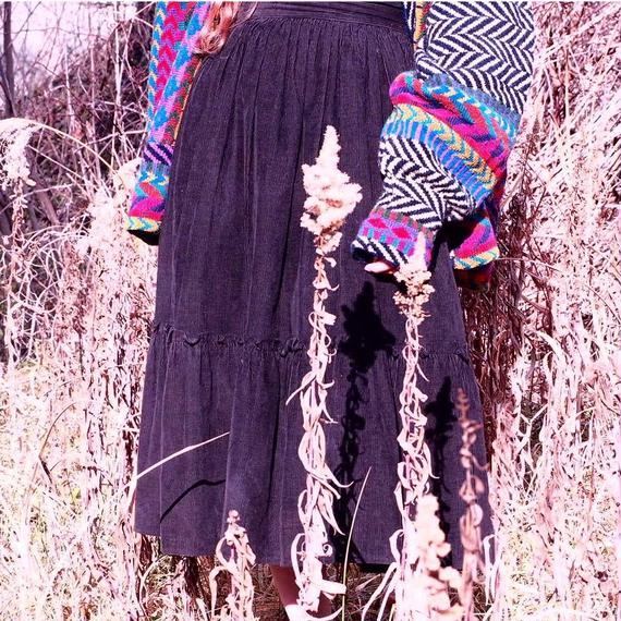 Corduroy  Flare Skirt