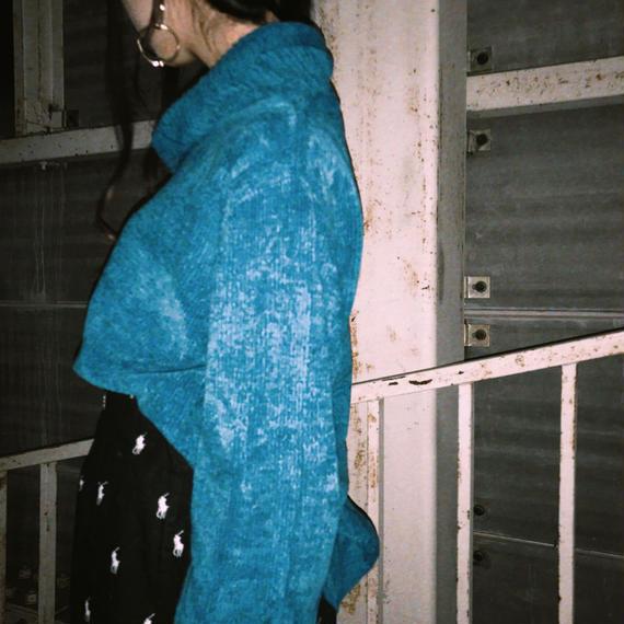 Turtleneck Chenille knit