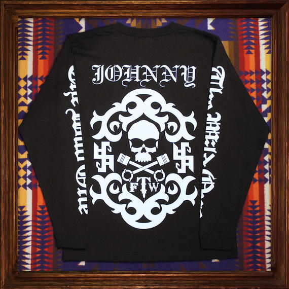 JOHNNY Long Tee【Black】