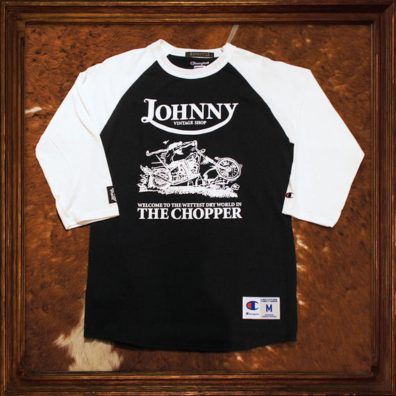 JOHHNY × Champion 3/4 Sleeve Tee 【CHOPPER】