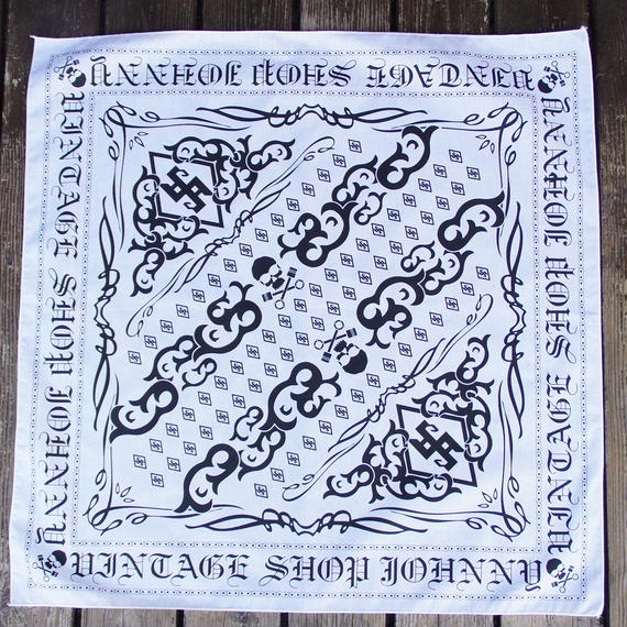 JOHNNY BANDANA【WHITE/BLACK】