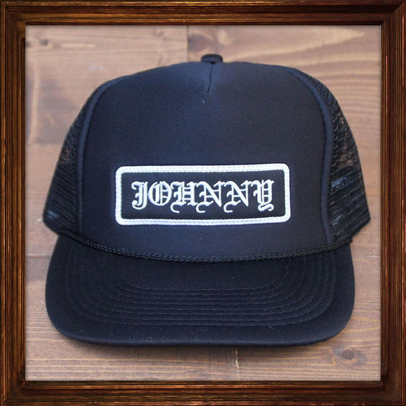 JOHNNY MESH CAP 【BLACK×BLACK】ROUND VISOR