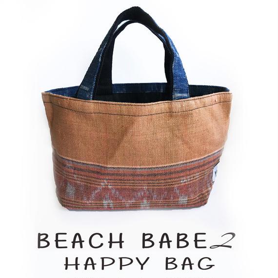 2018HAPPY BAG:  BEACH BABE② -  SUMMER CHASERラッシュガード + シークレットビキニセット +VOCIANA INDIGO TOTE BAG