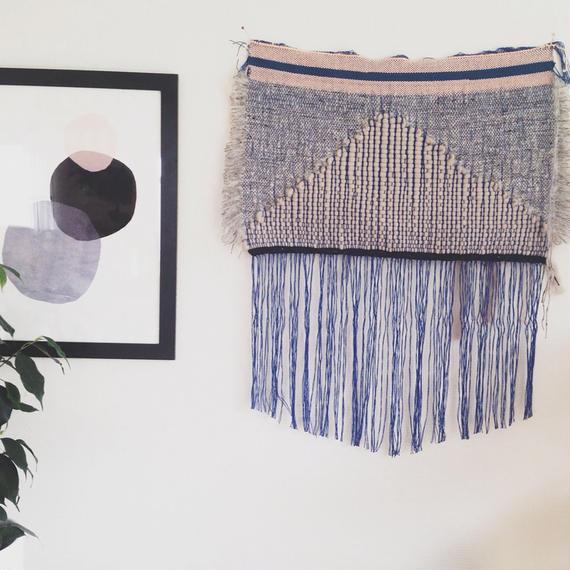 Wool weaving by Mirjam Tho