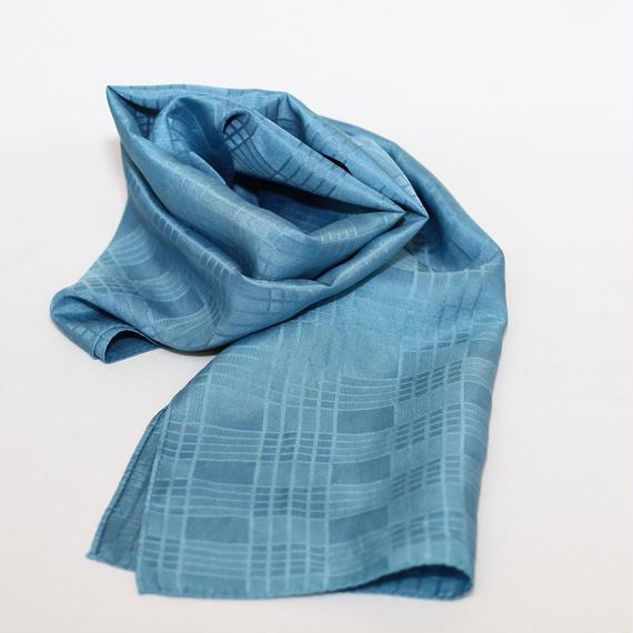 藍の宝石 藍の生葉染めストール中判