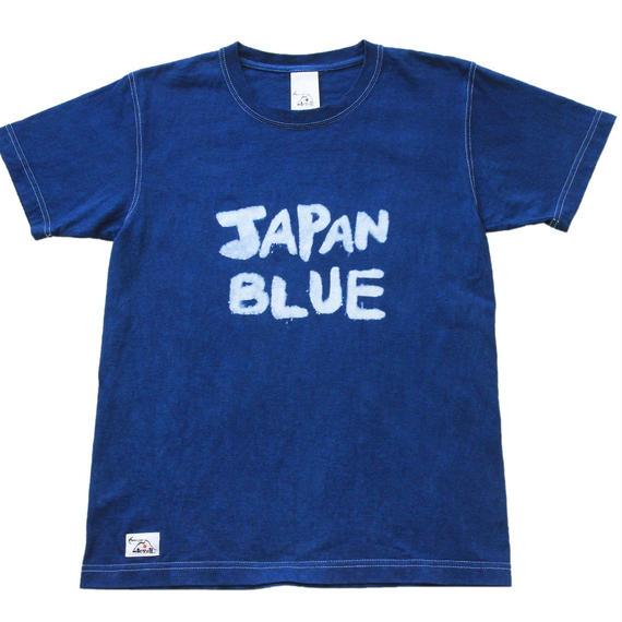 本藍バッセン(抜染)JAPAN BLUE 手染めTシャツ