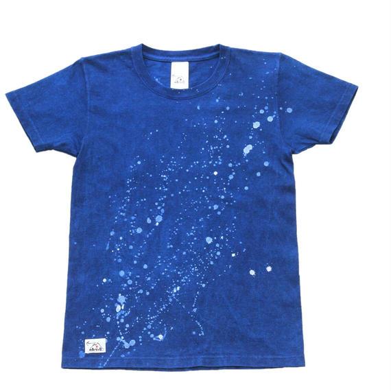 天の川模様 ろうけつ手染めTシャツ