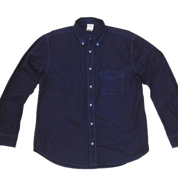 藍手染め 勝ち色 ワイシャツ