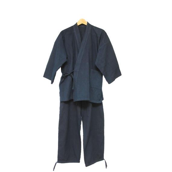藍染め作務衣 刺し子