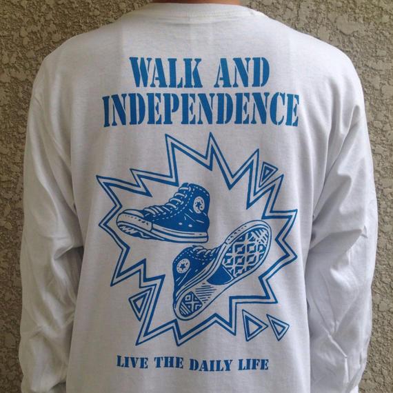 """walk and independence""  Long sleeve T-shirt   ※お支払いは銀行振込を選択して下さい。"