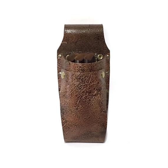 シザーケースBasic 茶・牛革