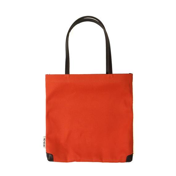 フラットトートバッグ オレンジ