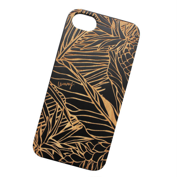 【iPhone 8, 8Plus対応】LĀʻAU iPhone case -Pililani- BLACK