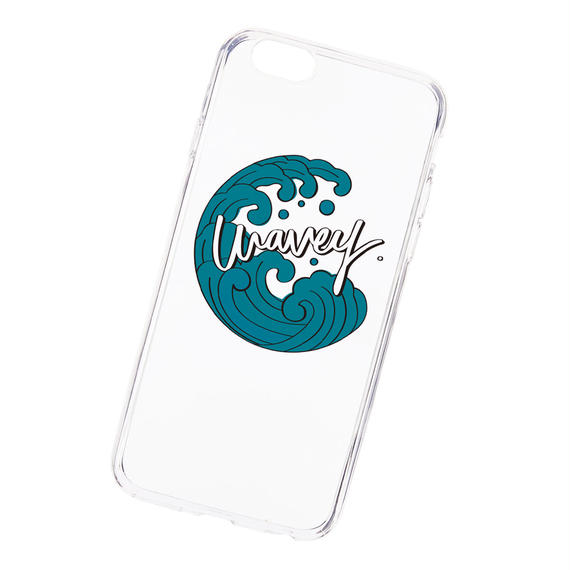 【iPhone X, 8, 8Plus対応】Wavey Iāpana logo clear case