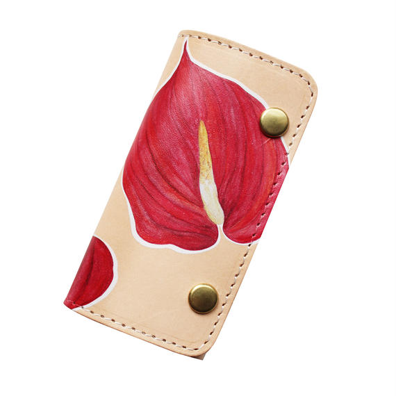 HEARTY<3 LEATHER KEY CASE