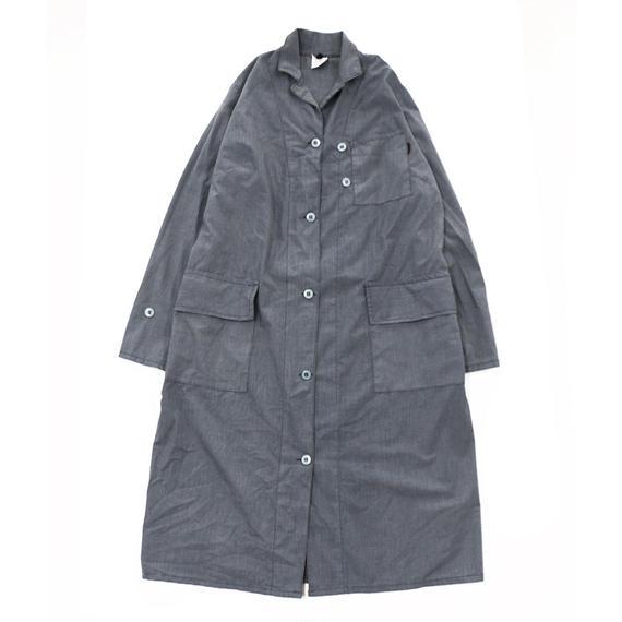 京都紋付 / 京都の黒染め コート シャツワンピース