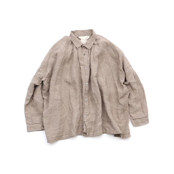 ICHI Antiquites / リネン ギャザー シャツ