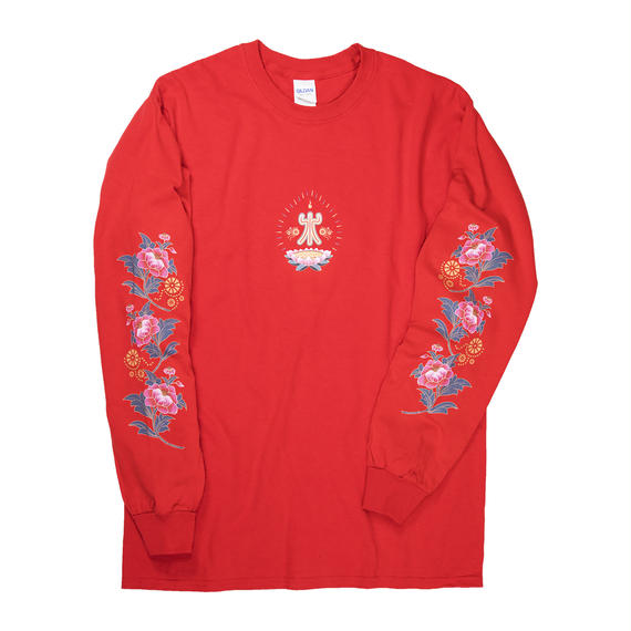 "新春 ""寿"" LONG SLEEVE (紅)"
