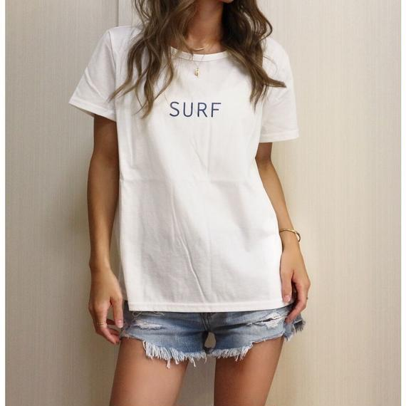 SURFプリントTシャツ【WHITE】