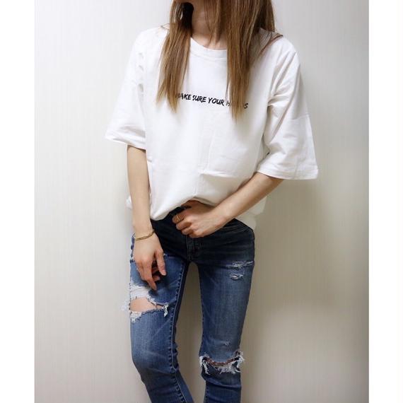 BIGシルエットドルマンスリーブTシャツ【WHITE】