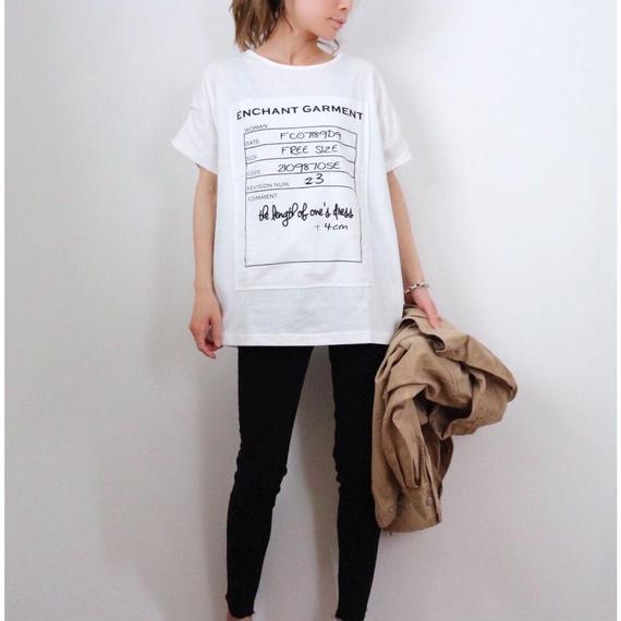 ネームプリントTシャツ【WHITE】