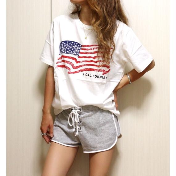 星条旗プリントポケットTシャツ