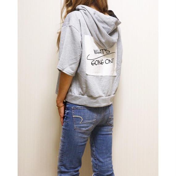 バックプリントレースアップパーカーTシャツ【GLAY】