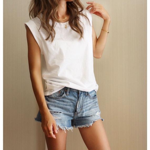 ノースリーブTシャツ【WHITE】