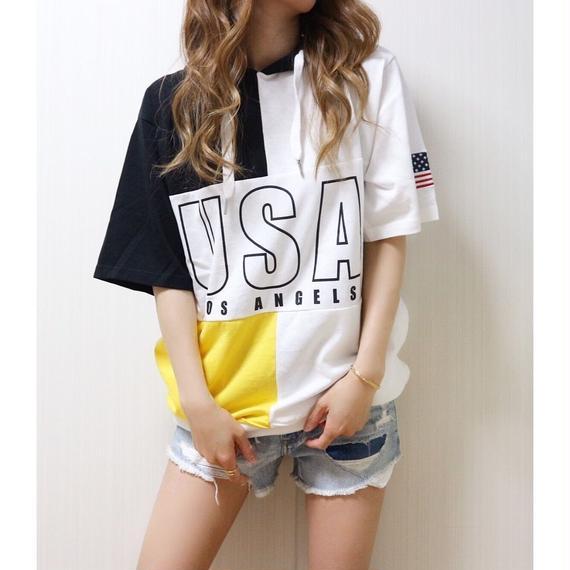 USAパーカーTシャツ【YELLOW】