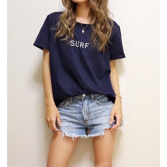 SURFプリントTシャツ【NAVY】