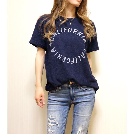 CaliforniaサークルロゴパイルTシャツ【NAVY】