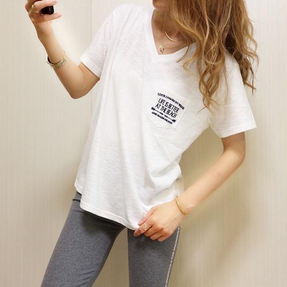 バックオルテガ刺繍Tシャツ【WHITE】