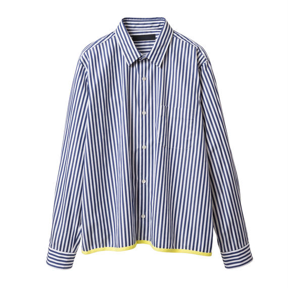 BLACK & BLUE / Cropped Shirts