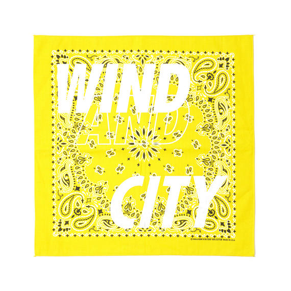CITY SHOP BANDANA / YELLOW (AC-17)
