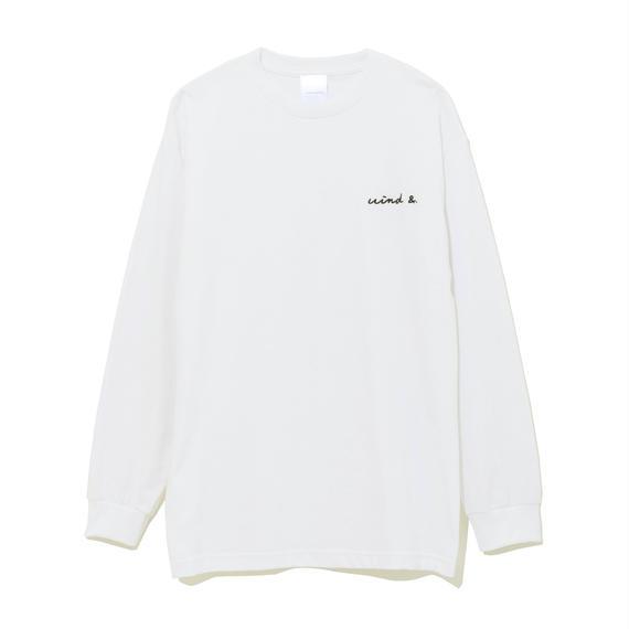 LONG SLEEVE CUT-SEWN E / WHITE (CS-09)