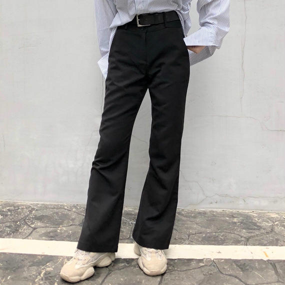 Slim Boot-cut Slacks Pants
