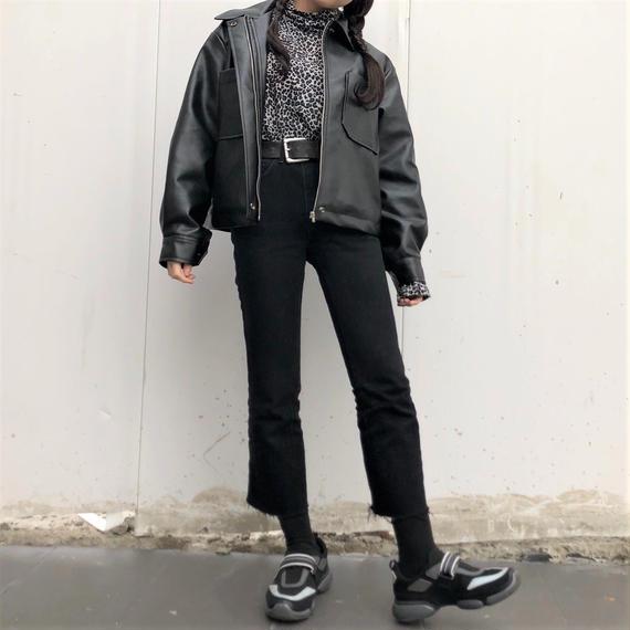 Double Pocket Leather Jacket