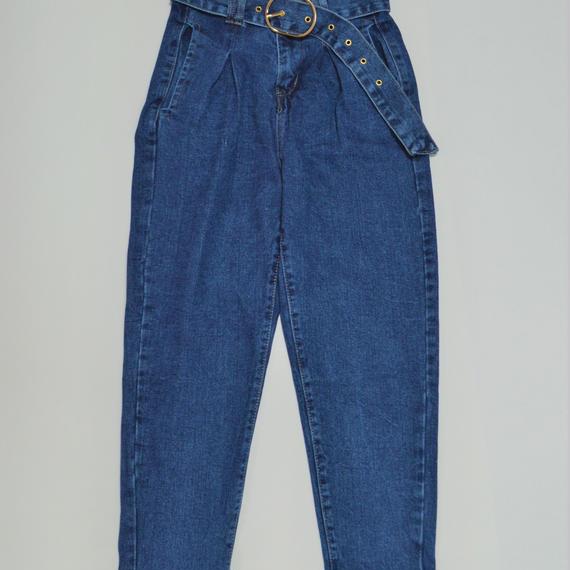 High Waist Belt Jeans