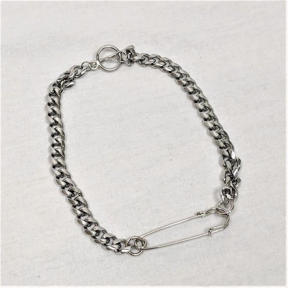 予約注文受付10/29-11/8[Hand made]Surgical Safety Pin Chain Necklace