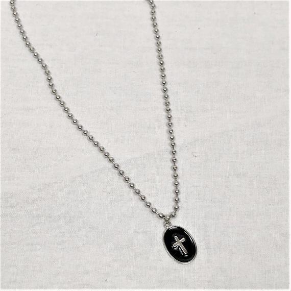 予約注文受付10/29-11/8[Hand made]Surgical Mini ball chain necklace