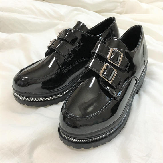 Belt Enamel Shoes