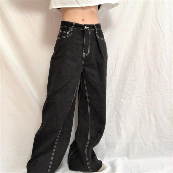 Wide Stitch Pants