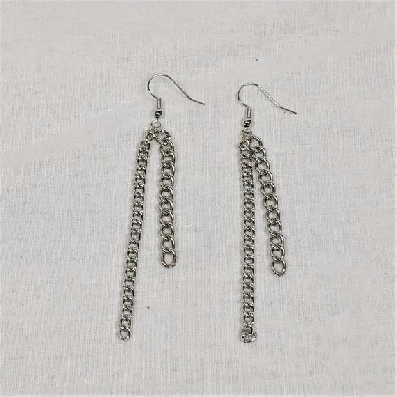 予約注文受付10/29-11/8[Hand made]Double Chain Earrings