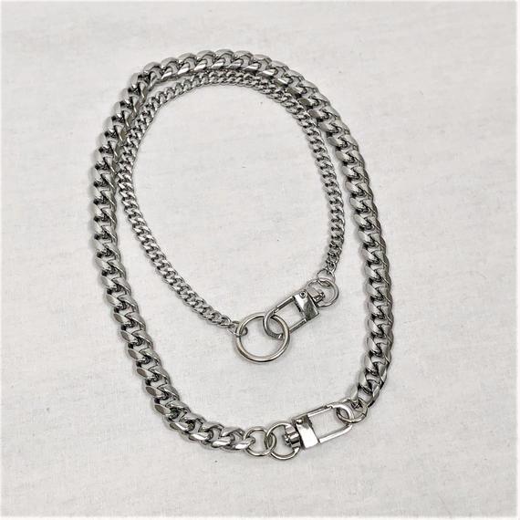 予約注文受付10/29-11/8[Hand made]Surgical Double Ring Necklace