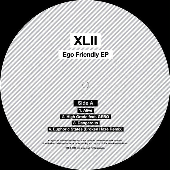 "XLII - Ego Friendly EP 12"" Vinyl"