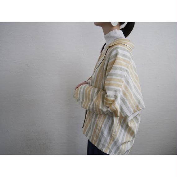 EURO DOLMAN SLEEVE STRIPE JACKET