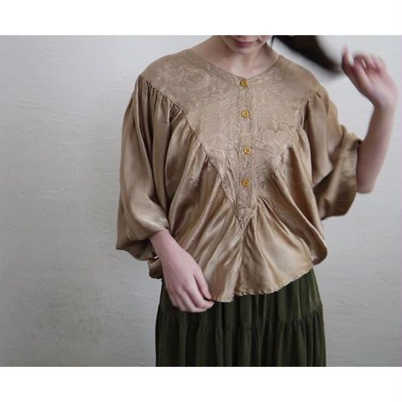VINTAGE GATHERED BLOUSE