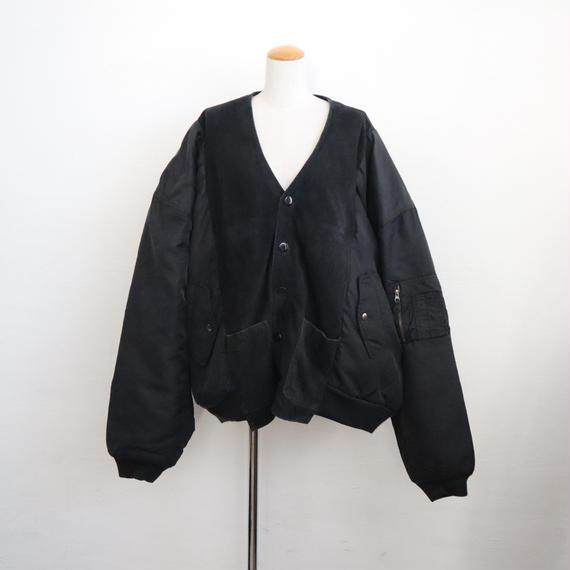 【ICHIRYU MADE】SUEDE LEATHER MA-1 JACKET ③